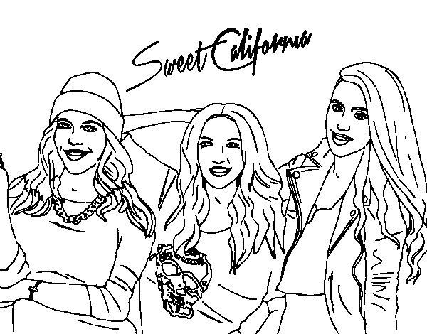 Dibuix de Alba Rocio i Sonia de Sweet California per Pintar on-line