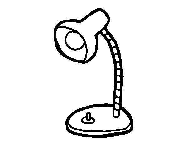Dibuix de Llumeta d'escriptori per Pintar on-line