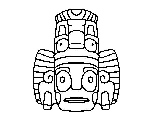 Dibuix de Màscara mexicana de rituals per Pintar on-line