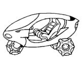 Dibuix de Moto espacial per pintar