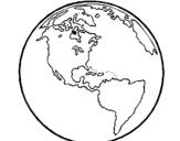 Dibuix de Planeta Terra per pintar