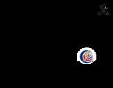 Dibuix de Samarreta del mundial de futbol 2014 de Costa Rica per pintar
