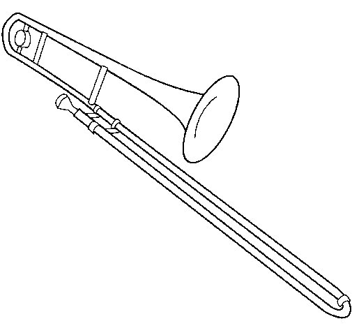 Dibuix de Trombó  per Pintar on-line