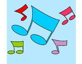 Dibuix Notes musicals  pintat per joanag