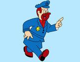 Dibuix Policia content pintat per helena22