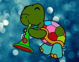 Dibuix Tortuga amb trompeta pintat per bruna