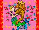 Dibuix Mare sirena pintat per creamovime