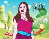 Dibuix Violetta Disney Channel pintat per Jannah