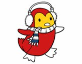 Pingüí amb bufanda