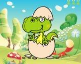Dino sortint de l'ou
